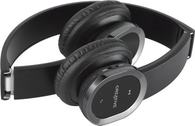 Creative Labs Bluetooth WP-450 Headphones with Mic Black - Creative Labs Headphones & Speakers