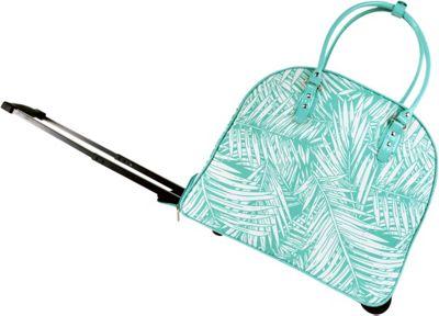 Tara's Travelers Palm Wheeled Duffel Palm Turquoise - Tara's Travelers Softside Carry-On
