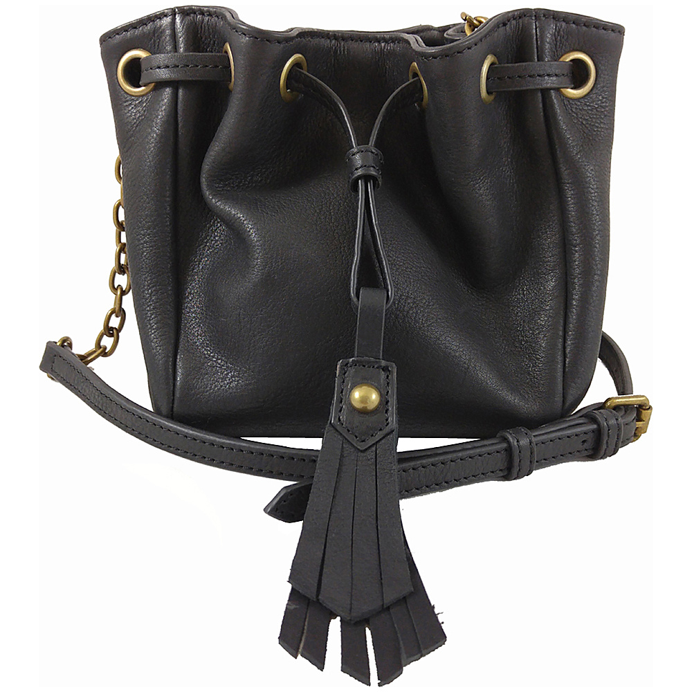 Joelle Hawkens by treesje Elise Mini Drawstring Crossbody Black Joelle Hawkens by treesje Designer Handbags