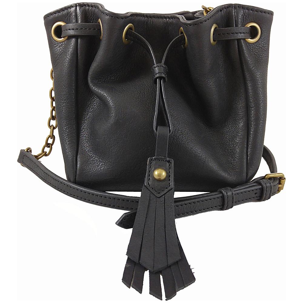 Joelle Hawkens by treesje Elise Mini Drawstring Crossbody Black Joelle Hawkens by treesje Designer Handbags