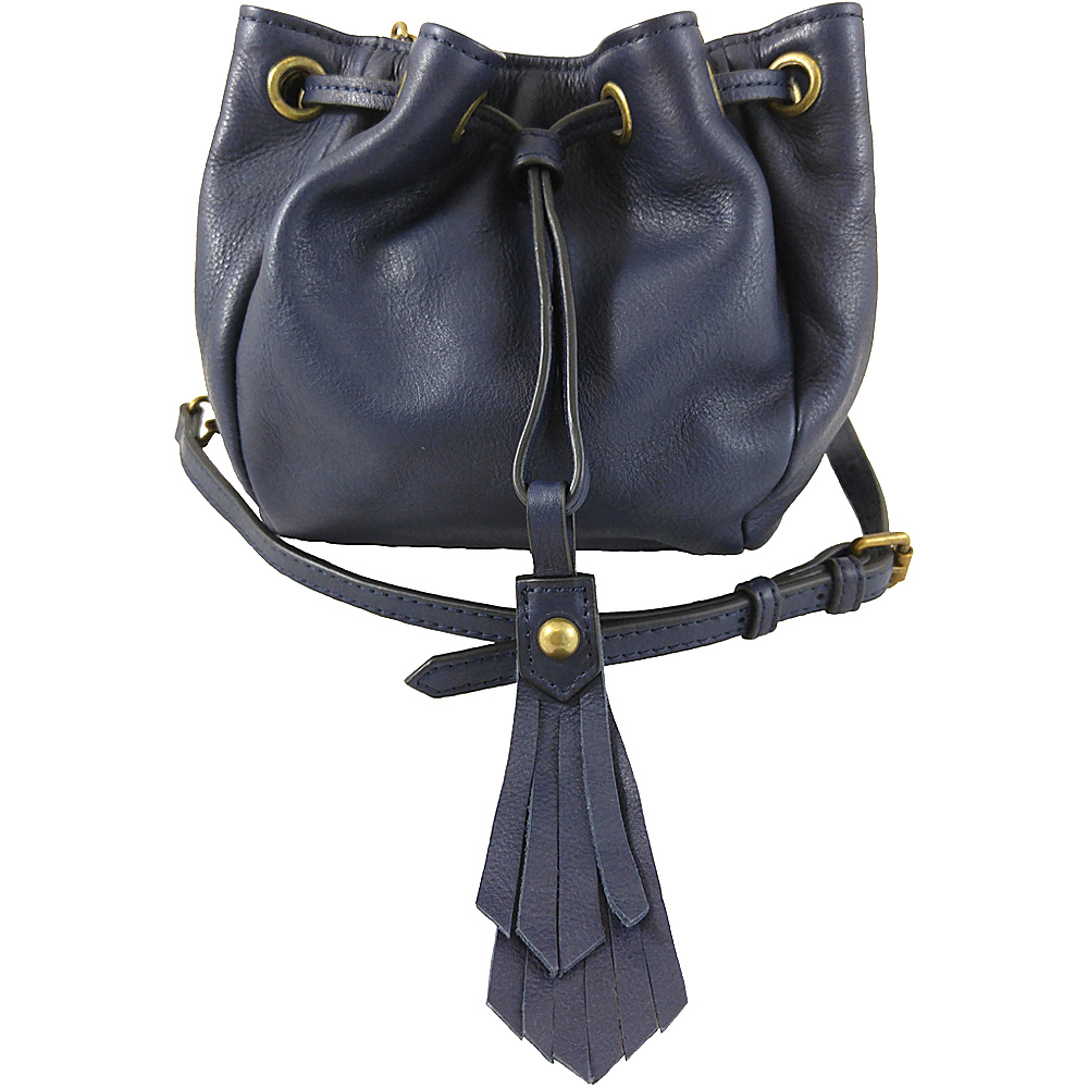 Joelle Hawkens by treesje Elise Mini Drawstring Crossbody Midnight Joelle Hawkens by treesje Designer Handbags