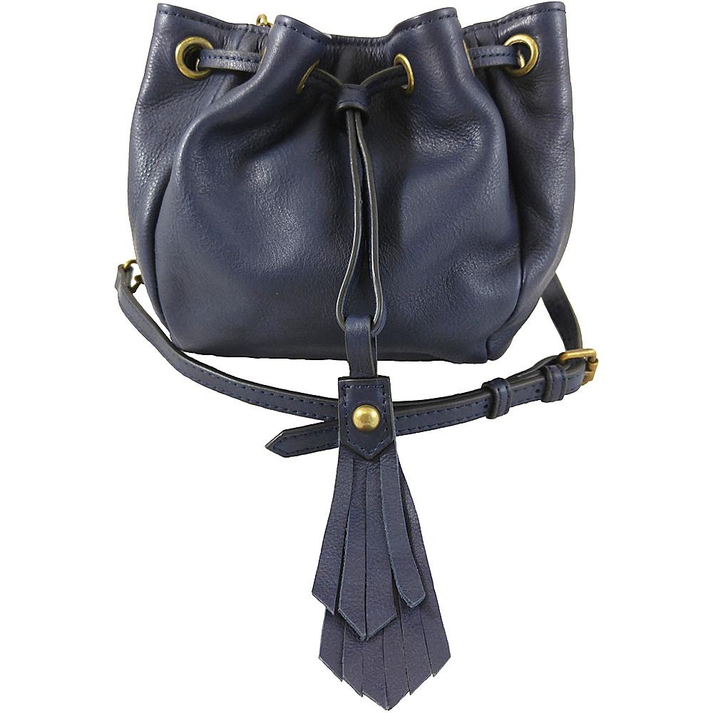Joelle Hawkens by treesje Elise Mini Drawstring Crossbody Midnight Joelle Hawkens by treesje Designer Handbags