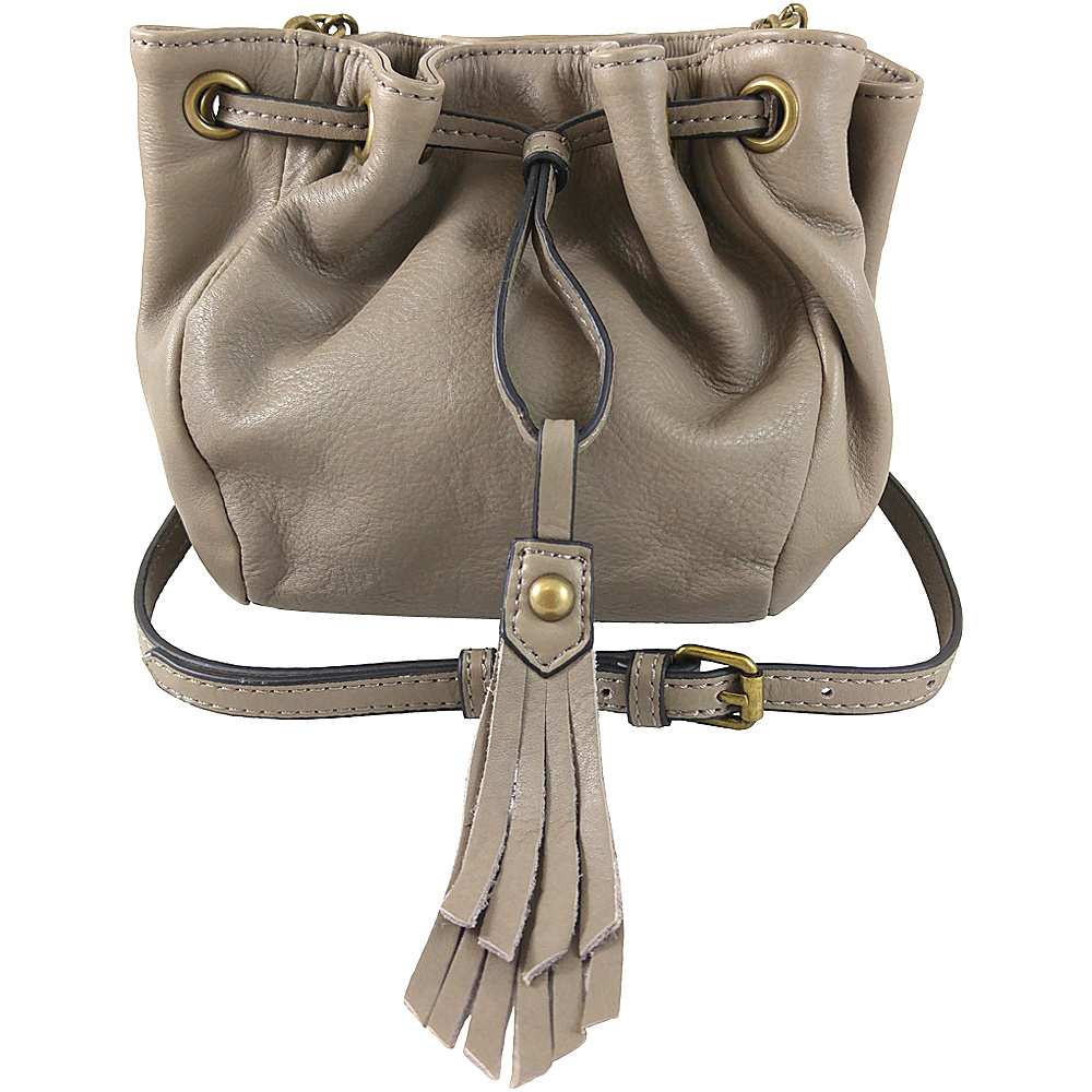 Joelle Hawkens by treesje Elise Mini Drawstring Crossbody Mushroom Joelle Hawkens by treesje Designer Handbags