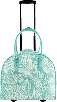 Tara's Travelers Palm Carry-On Trolley Palm Turquoise - Tara's Travelers Softside Carry-On