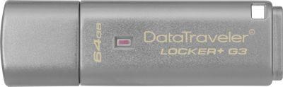 Kingston DataTraveler Locker+ G3/64GB Silver - Kingston Electronic Accessories