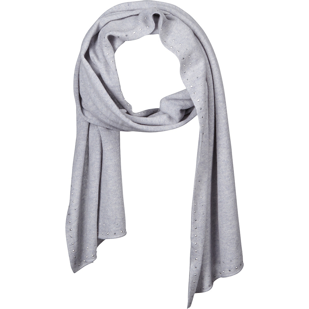 Kinross Cashmere Crystal Edge Scarf Dove - Kinross Cashmere Hats/Gloves/Scarves - Fashion Accessories, Hats/Gloves/Scarves