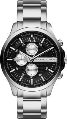 A/X Armani Exchange Hampton Chrono Watch Silver - A/X Armani Exchange Watches