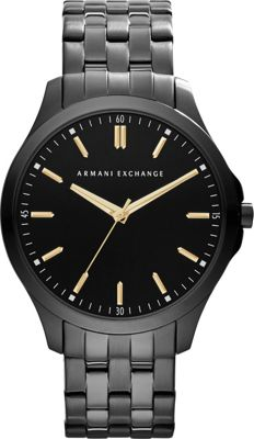 A/X Armani Exchange Smart LP Stainless Steel Watch Black - A/X Armani Exchange Watches