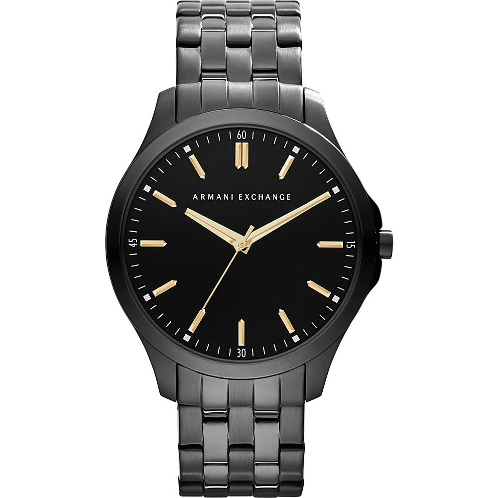 A X Armani Exchange Smart LP Stainless Steel Watch Black A X Armani Exchange Watches