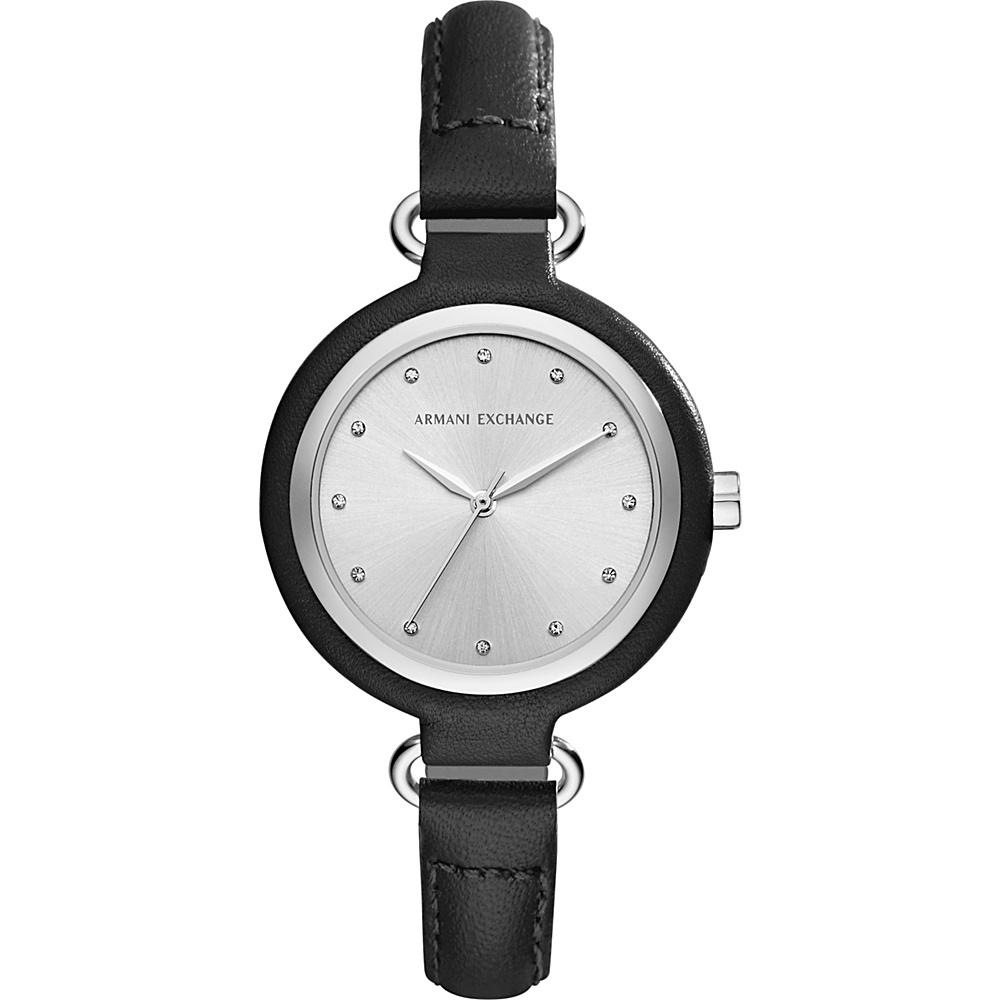 A X Armani Exchange Smart Womens Leather Watch Black A X Armani Exchange Watches