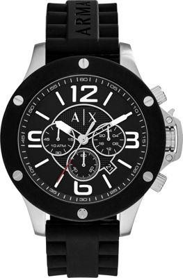 A/X Armani Exchange Street Chronograph Watch Black - A/X Armani Exchange Watches