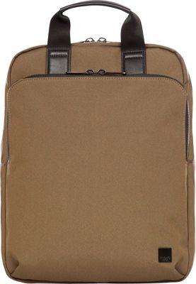 KNOMO London Brompton James Convertible Backpack Deep Army Green - KNOMO London Business & Laptop Backpacks