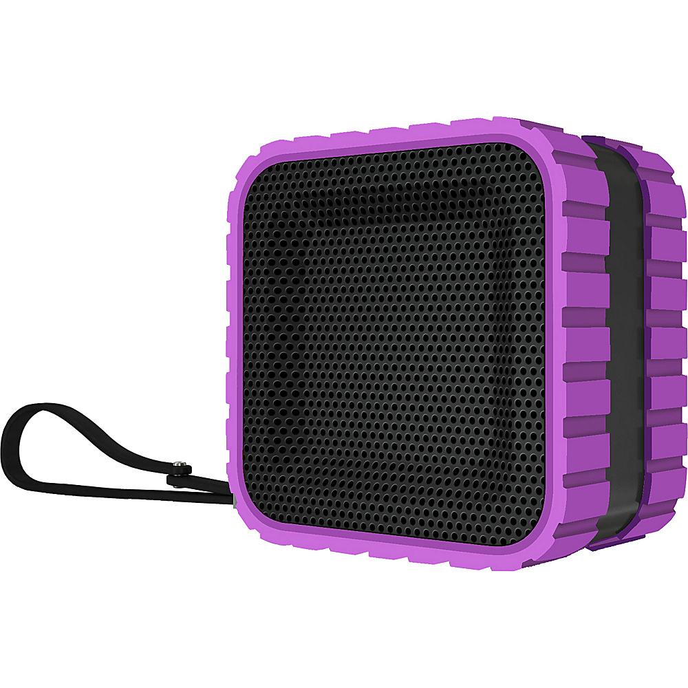 Coleman SoundTrail Cube Water Resistant Bluetooth Speaker Purple Coleman Headphones Speakers