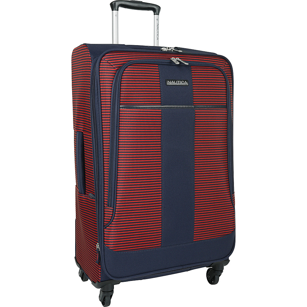 Nautica Beach Island 24 Expandable Spinner Navy red Nautica Softside Checked