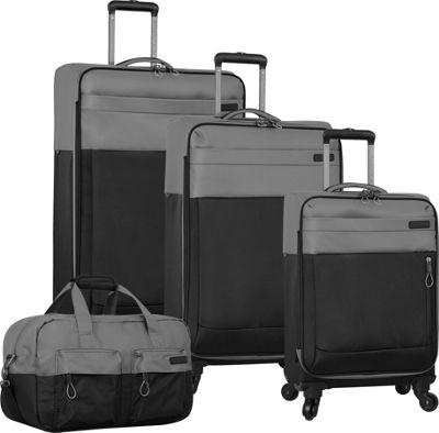 Nautica Harpswell 4 Piece Set Grey/Black - Nautica Luggage Sets