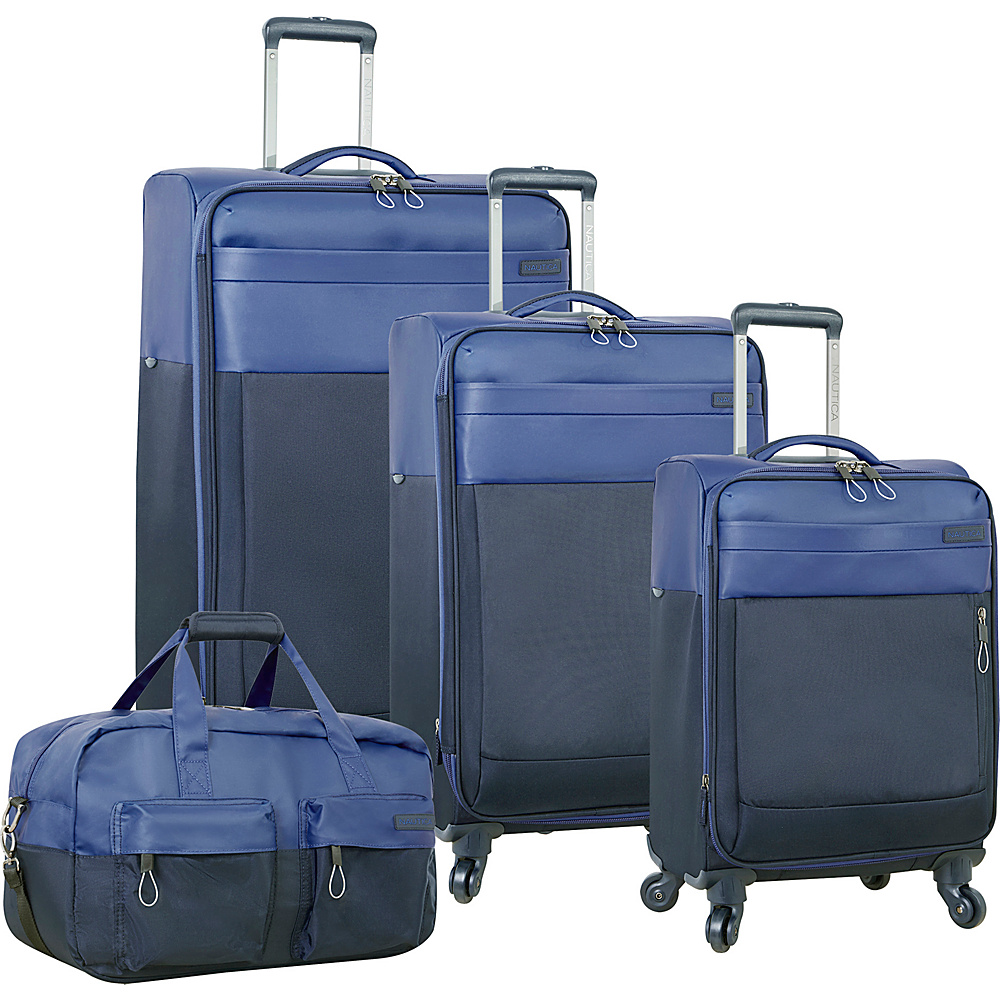 Nautica Harpswell 4 Piece Set Blue Nautica Luggage Sets