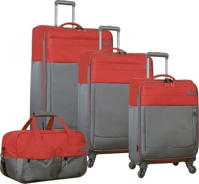 Nautica Harpswell 4 Piece Set Red - Nautica Luggage Sets