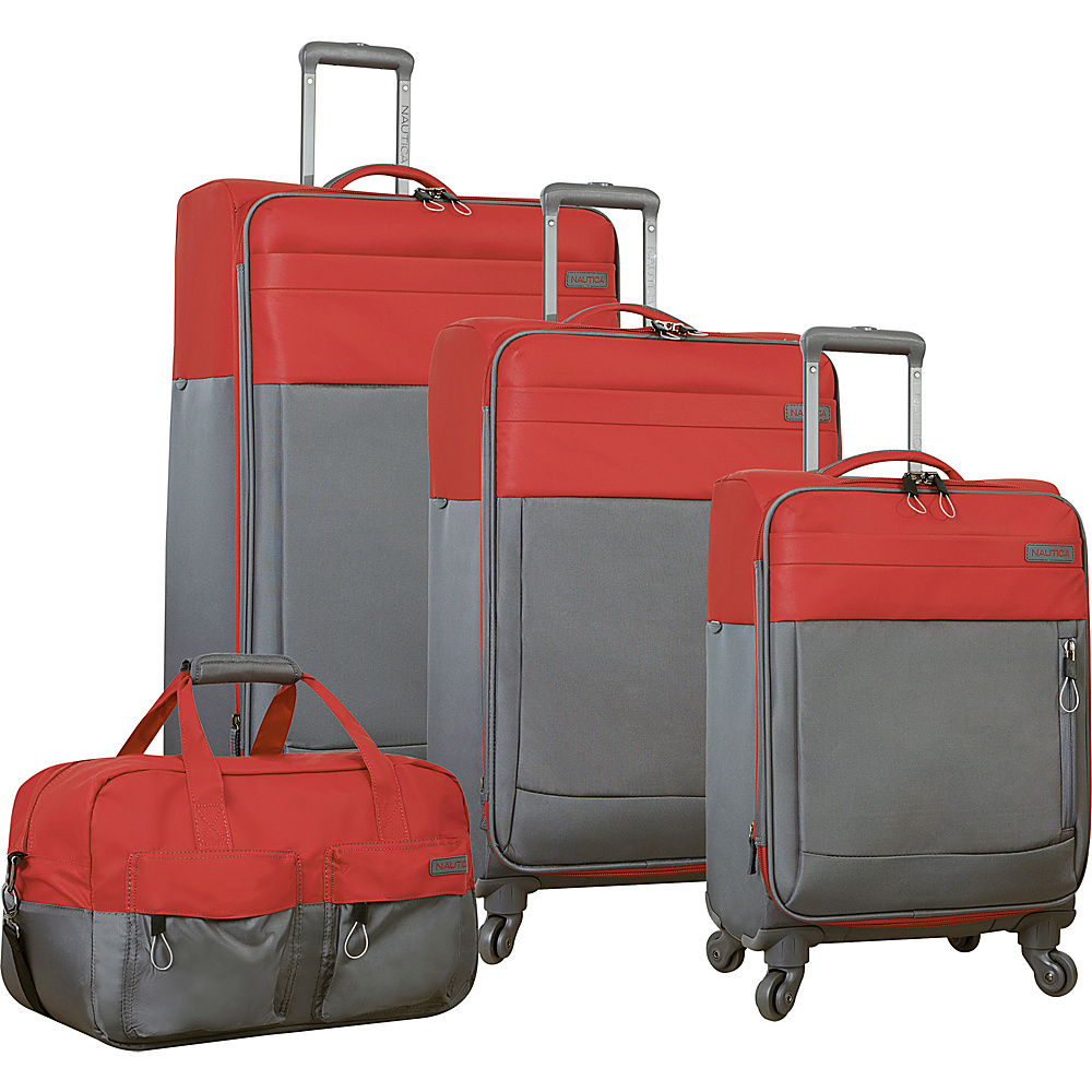Nautica Harpswell 4 Piece Set Red Nautica Luggage Sets