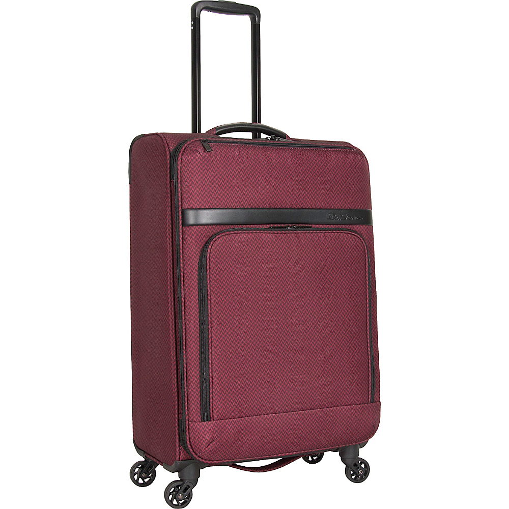 Ben Sherman Luggage York Collection 24 Upright Luggage Cherry Brandy Ben Sherman Luggage Softside Checked