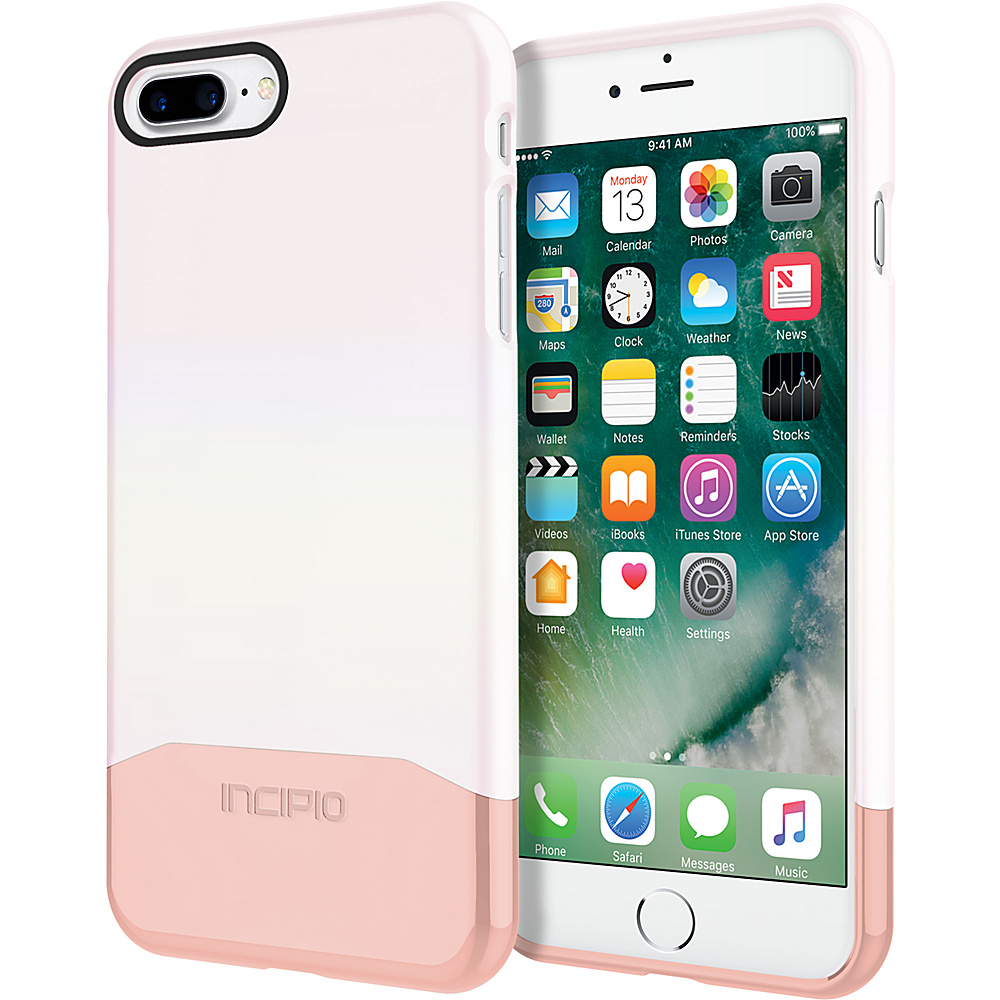 Incipio Edge Chrome for iPhone 7 Plus Iridescent White Opal/Chrome Rose Gold(WRG) - Incipio Electronic Cases - Technology, Electronic Cases