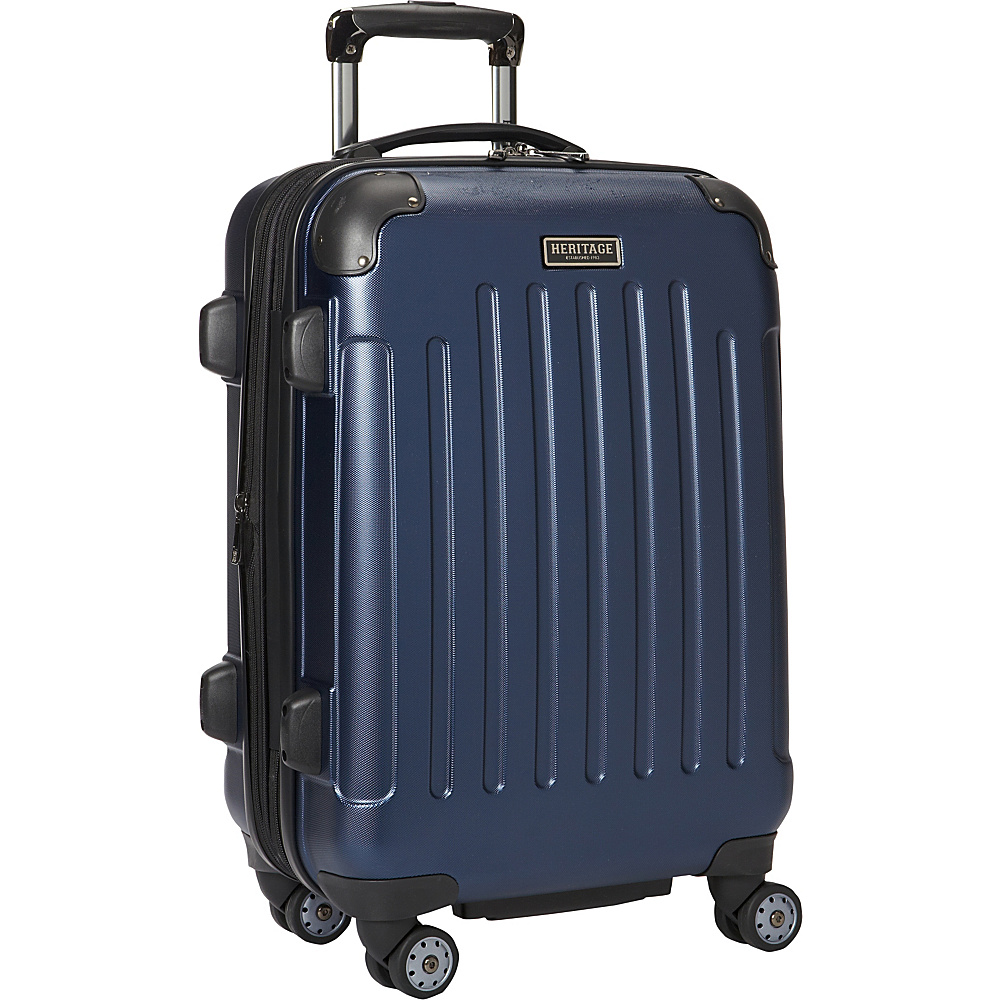 Heritage Logan Square Collection 20 Expandable 8 Wheel Carry On Luggage Navy Heritage Hardside Carry On