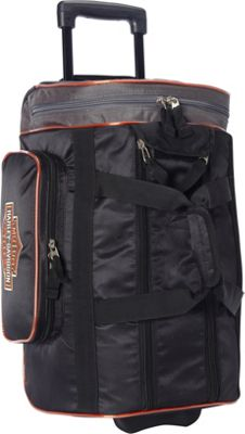 Harley Davidson by Athalon 20 inch Wheeled Travel Carryon Duffel Black - Harley Davidson by Athalon Softside Carry-On