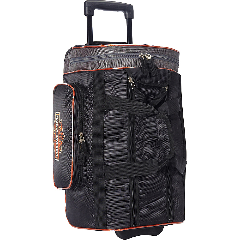 Harley Davidson by Athalon 20 Wheeled Travel Carryon Duffel Black Harley Davidson by Athalon Softside Carry On