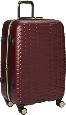 Aimee Kestenberg Boa Collection 24 inch Hardside 8-Wheel Luggage Raspberry - Aimee Kestenberg Large Rolling Luggage