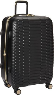 Aimee Kestenberg Boa Collection 24 inch Hardside 8-Wheel Luggage Midnight Black - Aimee Kestenberg Large Rolling Luggage