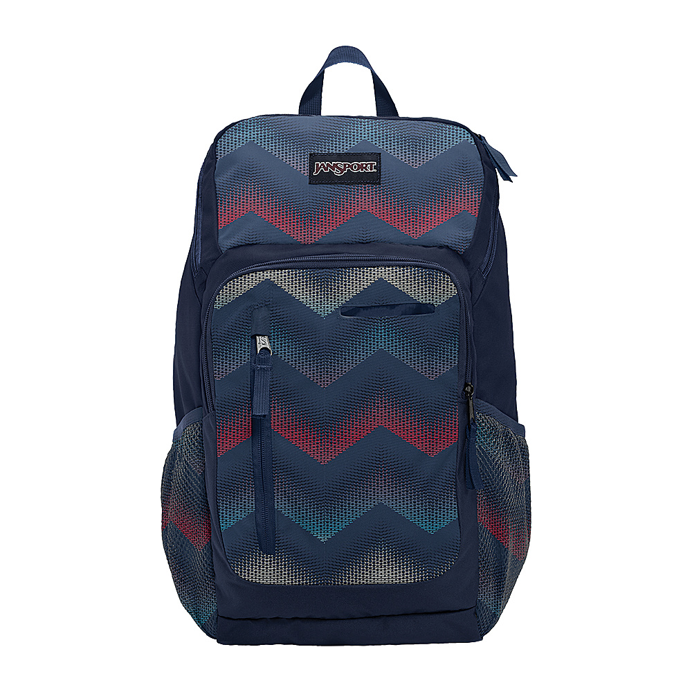 JanSport Impulse Laptop Backpack Matrix Chevron Navy - JanSport Business & Laptop Backpacks