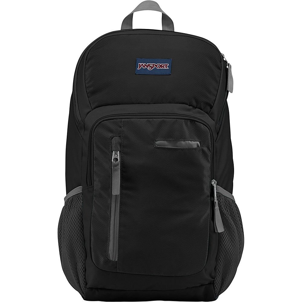 JanSport Impulse Laptop Backpack Black Triangle Dobby - JanSport Business & Laptop Backpacks