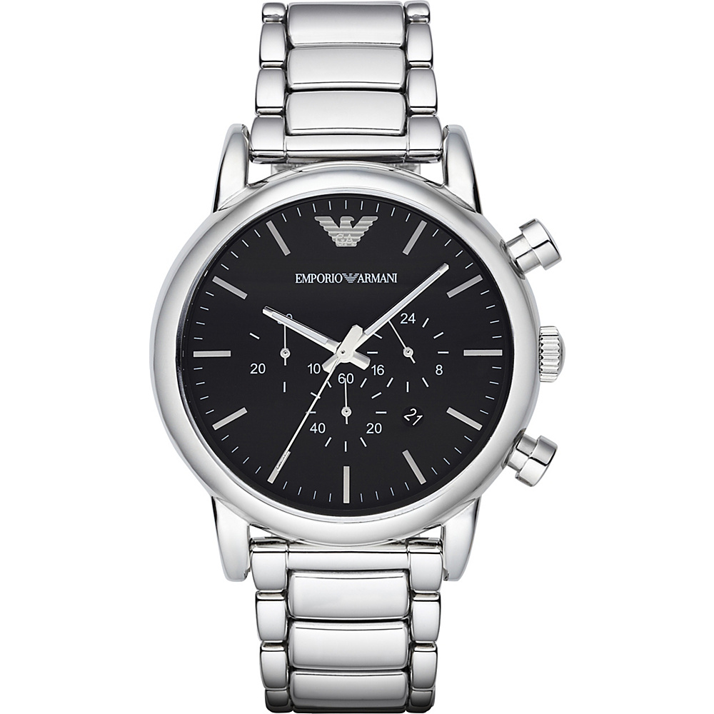 Emporio Armani Classic Chronograph Watch Silver Emporio Armani Watches