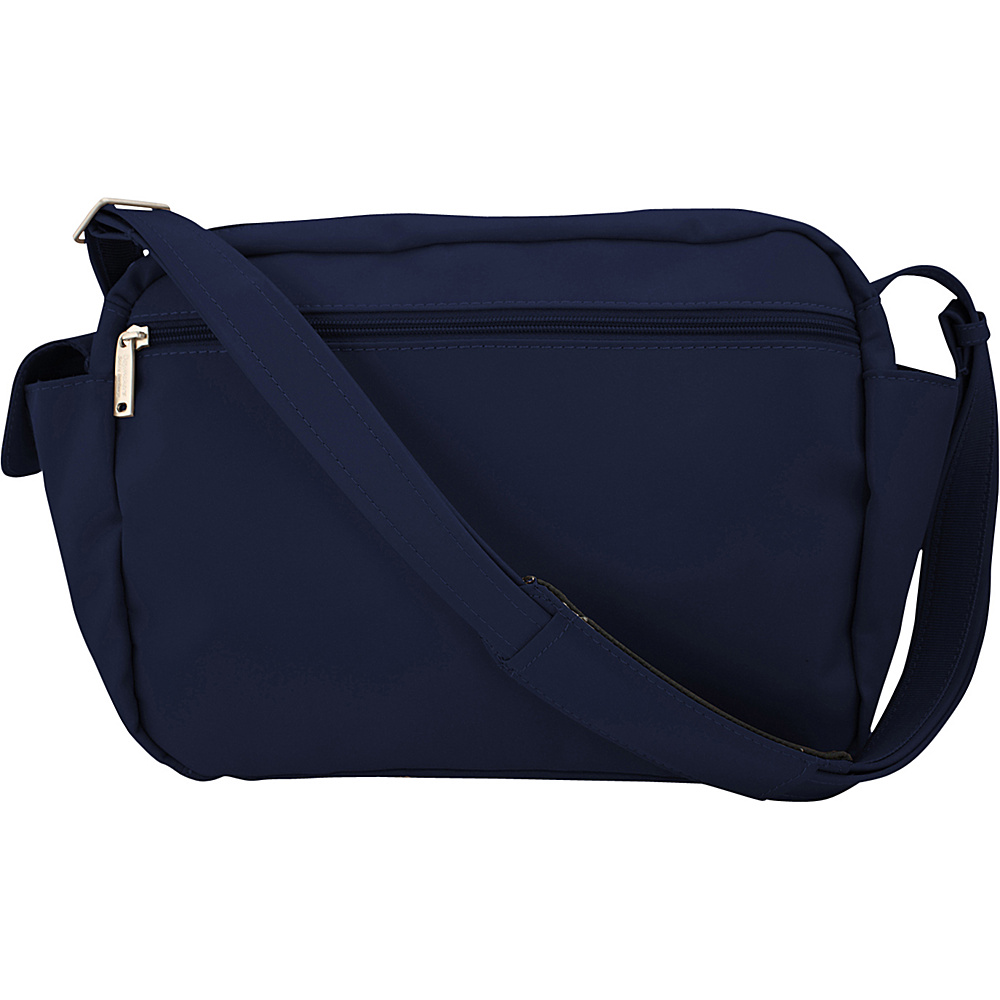 BeSafe by DayMakers Anti Theft 9 Pocket Traveler Messenger Navy BeSafe by DayMakers Fabric Handbags