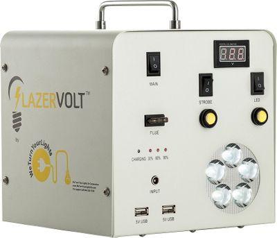 Lazervolt Blackout Relief Power Box Beige - Lazervolt Portable Batteries & Chargers