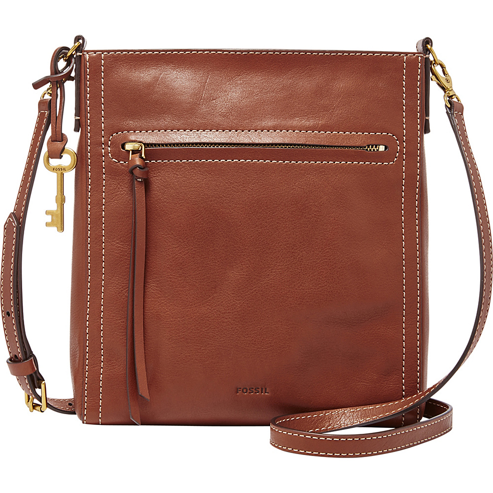 Fossil Emma NS Crossbody Brown - Fossil Leather Handbags - Handbags, Leather Handbags