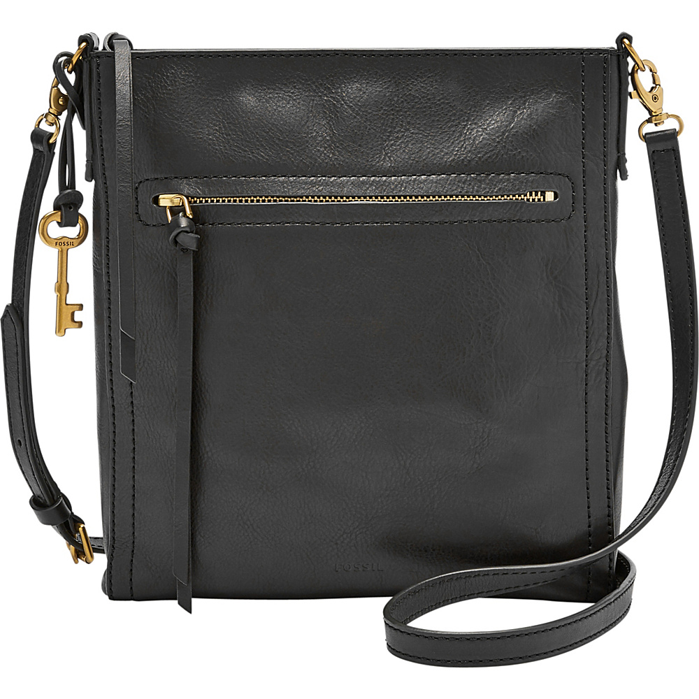 Fossil Emma NS Crossbody Black - Fossil Leather Handbags - Handbags, Leather Handbags
