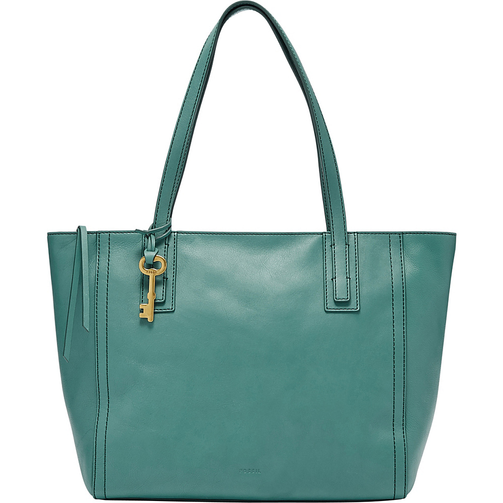 Fossil Emma Tote Teal Green - Fossil Leather Handbags - Handbags, Leather Handbags