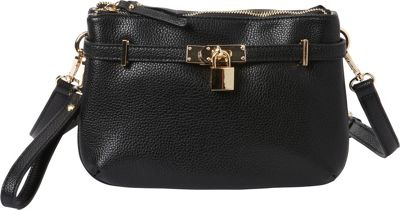 Hush Puppies Abilene Crossbody Black - Hush Puppies Manmade Handbags