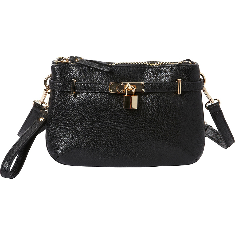 Hush Puppies Abilene Crossbody Black Hush Puppies Manmade Handbags