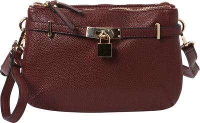 Hush Puppies Abilene Crossbody Bordeaux - Hush Puppies Manmade Handbags