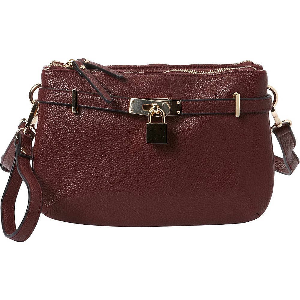Hush Puppies Abilene Crossbody Bordeaux Hush Puppies Manmade Handbags