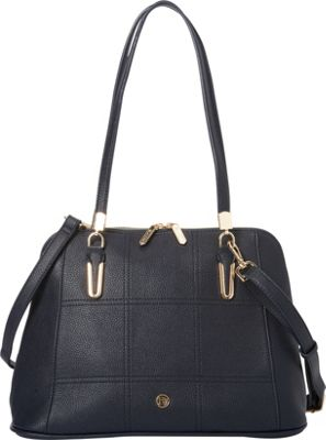 La Diva Sadie Shoulder Bag Navy - La Diva Manmade Handbags