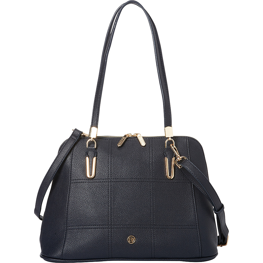 La Diva Sadie Shoulder Bag Navy La Diva Manmade Handbags