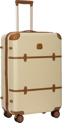 BRIC'S Bellagio 2.0 27 inch Spinner Trunk Cream - BRIC'S Softside Checked