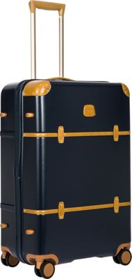 BRIC'S Bellagio 2.0 27 inch Spinner Trunk Blue - BRIC'S Softside Checked