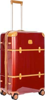 BRIC'S Bellagio 2.0 27 inch Spinner Trunk Shiny Red - BRIC'S Softside Checked