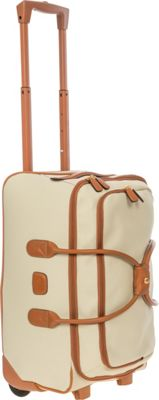 BRIC'S Firenze 21 inch Carry-On Rolling Duffle Cream - BRIC'S Softside Carry-On