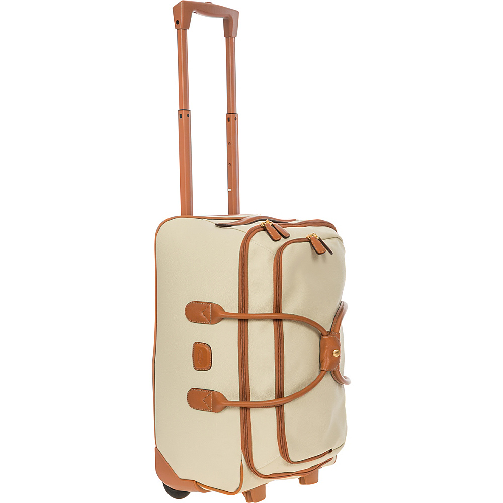 BRIC S Firenze 21 Carry On Rolling Duffle Cream BRIC S Softside Carry On
