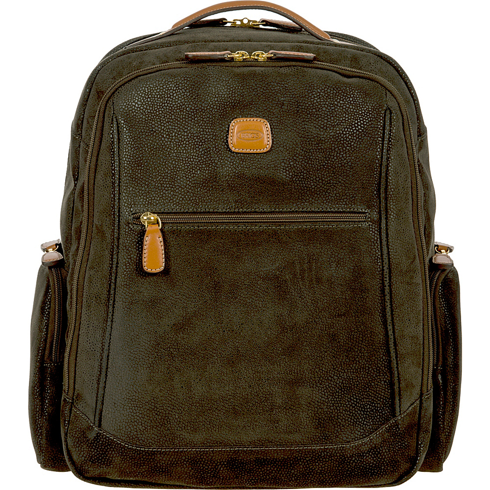 BRIC S Life Executive Backpack Large Olive BRIC S Business Laptop Backpacks