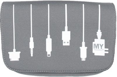 MyTagAlongs Plug In Charger Case Grey - MyTagAlongs Camera Accessories